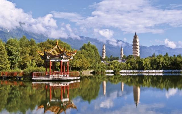 Die drei Pagoden des Changsheng-Klosters bei Dali
