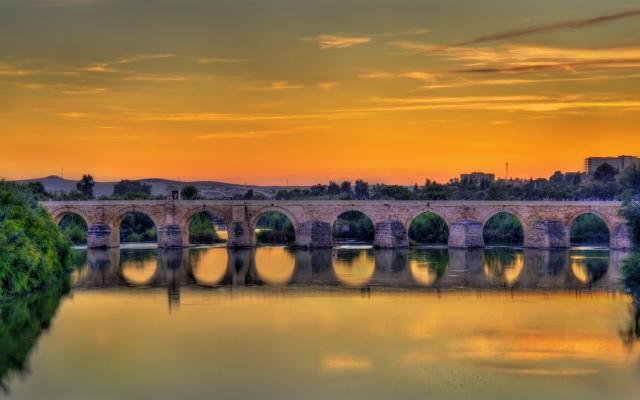 Römische Brücke über den Guadalquivir in Cordoba,Spanien