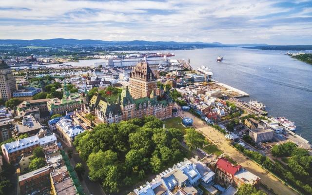 Blick auf Quebec mit dem Fairmont Chateau Frontenac