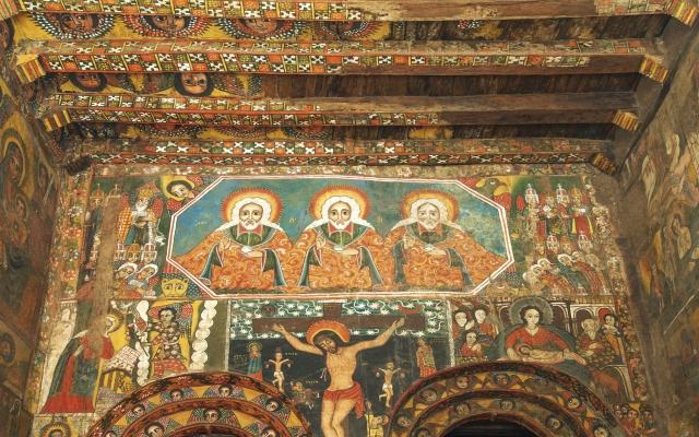Fantastisch erhaltene Wandmalereien
