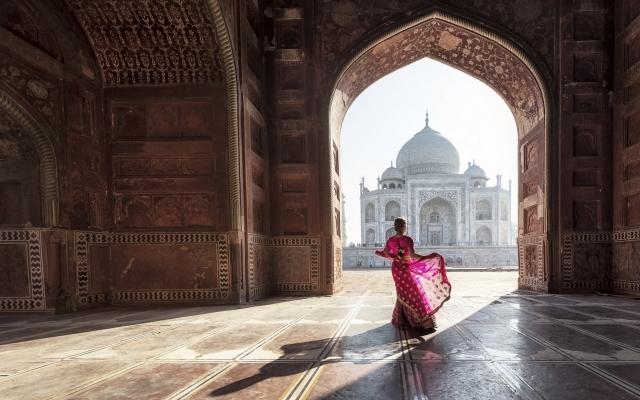 das märchenhafte Taj Mahal