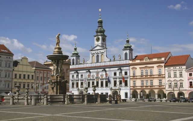 Marktplatz von Ceske Budejovice (Budweis)