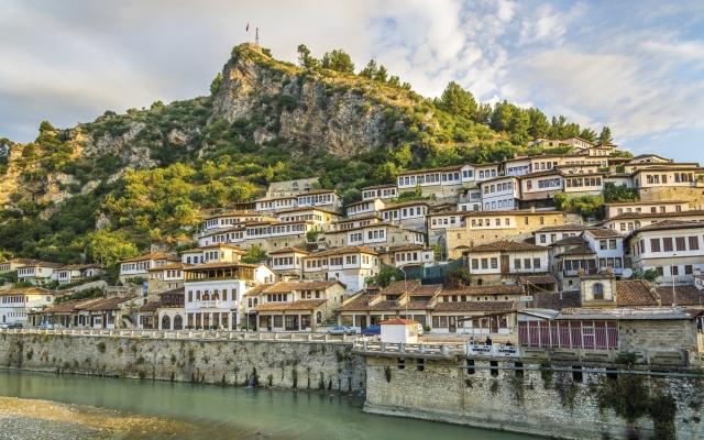 Wunderschöner Blick auf die Altstadt von Berat