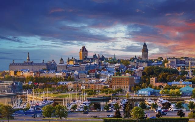 Quebec City am St. Lorenz-Strom