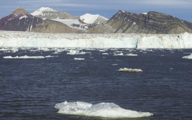 Gletscherfront in Spitzbergen