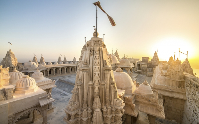 Jain-Tempel auf dem Shatrunjaya-Hill