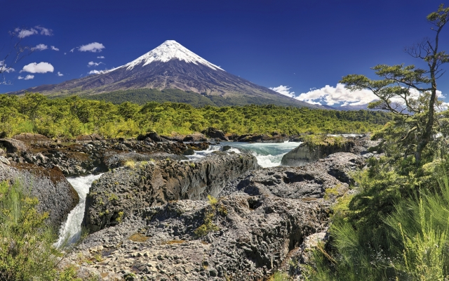 Petrohué-Wasserfälle & Vulkan Osorno