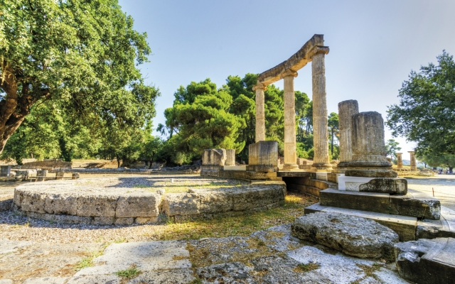 Antike Stätte Olympia, Griechenland
