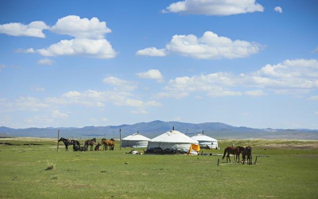 Nomaden Camp in der Mongolei