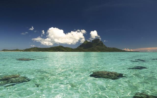 Der Otemanu, Zentralmassiv von Bora Bora