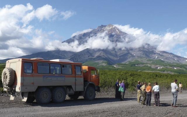 Atemberaubende Vulkanlandschaft Kamtschatkas