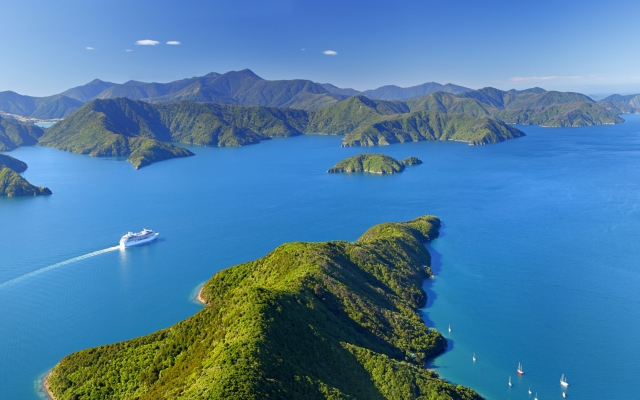 Panorama der Marlborough Sounds