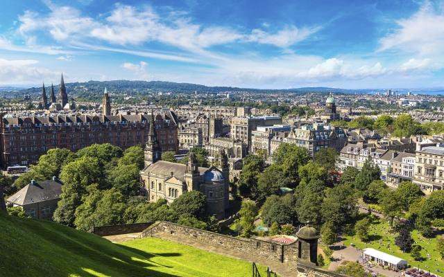 Luftaufnahme von Edinburgh