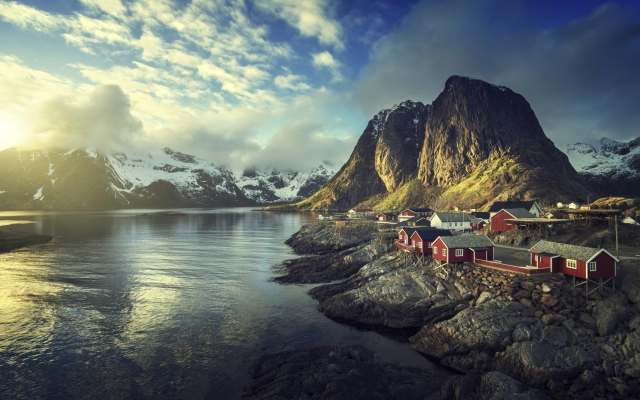 Ortschaft Reine auf den Lofoten