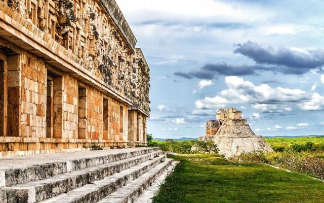 Die Ruinenanlage von Uxmal nahe Mérida